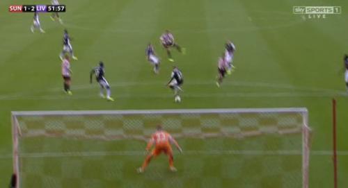 Mignolet-Skrtel vs Sunderland POOR BLOCKING GKing