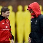 Gerrard training with Klopp