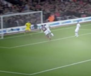 Clyne at West Ham goal one