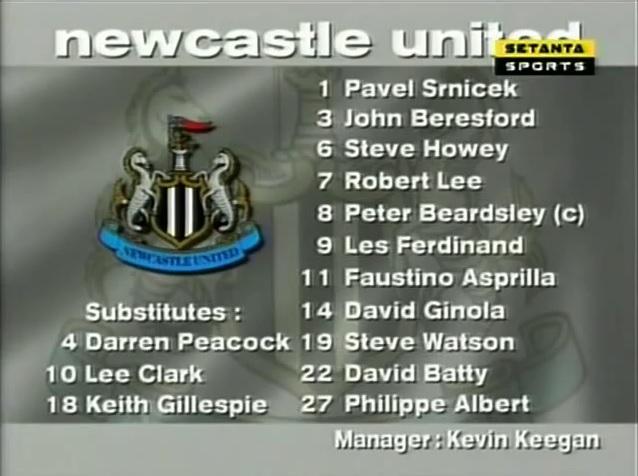 Newcastle United vs. Liverpool 1996